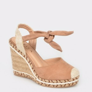 Sandale EPICA MADE IN BRAZIL nude, 767030, din nabuc