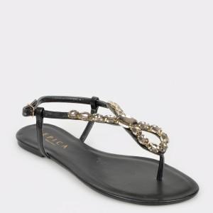 Sandale EPICA MADE IN BRAZIL negre, 111096, din piele ecologica