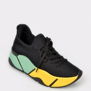 Pantofi sport GRYXX negri, Mk861, din piele ecologica
