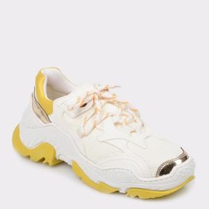 Pantofi sport GRYXX albi, Mk1108, din material textil