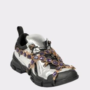 Pantofi sport GRYXX argintii, 5000, din piele ecologica