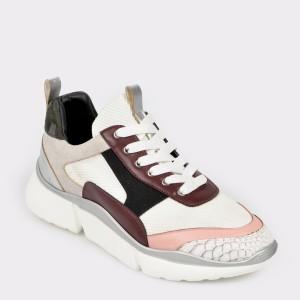 Pantofi Sport Gryxx Argintii, Mo80, Din Piele Ecologica