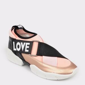 Pantofi GRYXX negri, Mk1076, din piele ecologica