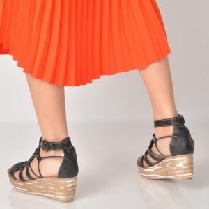 Sandale Negre, 90089, Din Piele Naturala