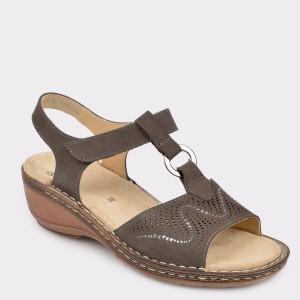 Sandale ARA maro, 37223, din nabuc