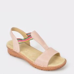 Sandale ARA nude, 37206, din nabuc