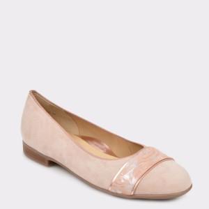 Balerini ARA roz, 31316, din piele intoarsa