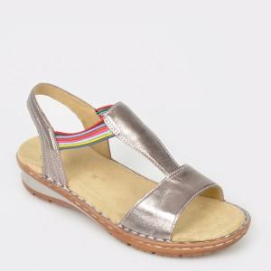 Sandale ARA argintii, 37206, din piele naturala