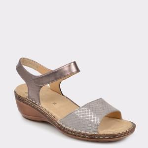 Sandale ARA argintii, 37222, din piele naturala