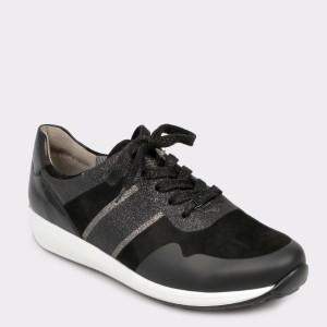 Pantofi sport ARA negri, 34589, din piele ecologica