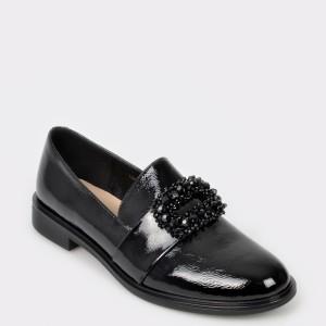 Pantofi EPICA negri, 18J9404, din piele naturala lacuita