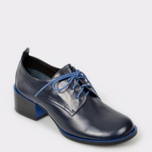Pantofi EPICA bleumarin, 17J3501, din piele naturala lacuita