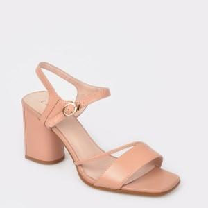 Sandale EPICA nude, L795Hs8, din piele naturala