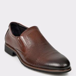 Pantofi OTTER maro, A204281, din piele naturala