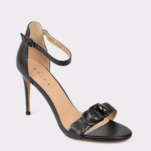 Sandale EPICA negre, W3727L, din piele naturala