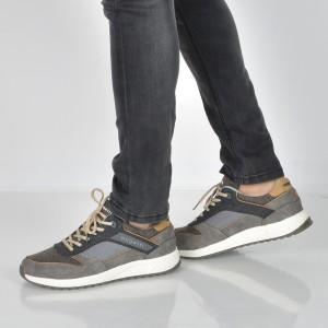 Pantofi sport BUGATTI gri, 54803, din piele intoarsa
