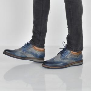 Pantofi BUGATTI bleumarin, 59903, din piele naturala