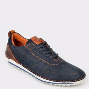Pantofi BUGATTI bleumarin, 71202, din nabuc