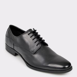 Pantofi BUGATTI negri, 44601, din piele naturala