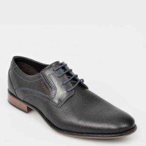 Pantofi BUGATTI negri, U7101, din piele naturala