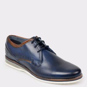 Pantofi BUGATTI bleumarin, 68402, din piele naturala