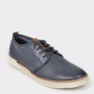 Pantofi BUGATTI bleumarin, 68901, din piele naturala