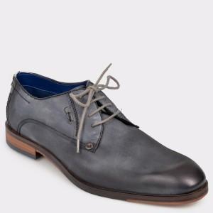 Pantofi Bugatti Gri, 65201, Din Piele Naturala