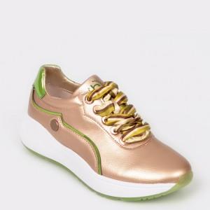 Pantofi sport BUGATTI aurii, 64002, din piele ecologica