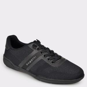 Pantofi BUGATTI negri, 46504, din material textil