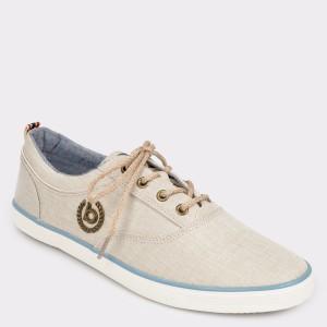 Pantofi BUGATTI bej, 50204, din material textil