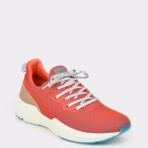 Pantofi sport BUGATTI portocalii, 73060, din material textil
