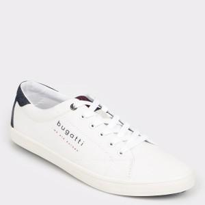 Pantofi BUGATTI albi, 71903, din material textil