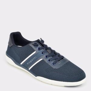 Pantofi BUGATTI bleumarin, 46504, din material textil