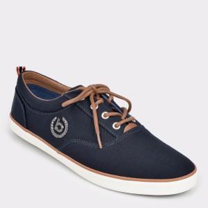 Pantofi BUGATTI bleumarin, 50204, din material textil