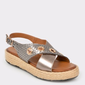 Sandale FLAVIA PASSINI gri, 115, din piele naturala