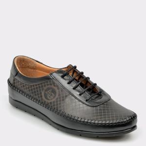 Pantofi Flavia Passini Negri, 82516, Din Piele Naturala