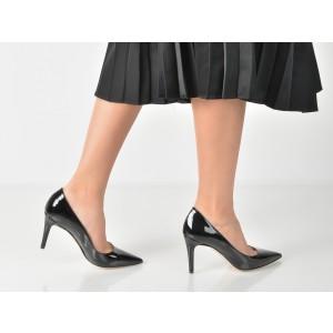 Pantofi Epica Negri, 954, Din Piele Naturala Lacuita