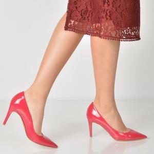 Pantofi Epica Fucsia, 954, Din Piele Naturala Lacuita