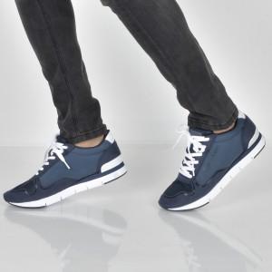 Pantofi sport CALVIN KLEIN bleumarin, Se8457, din piele ecologica
