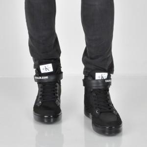 Ghete CALVIN KLEIN negre, S1772, din material textil