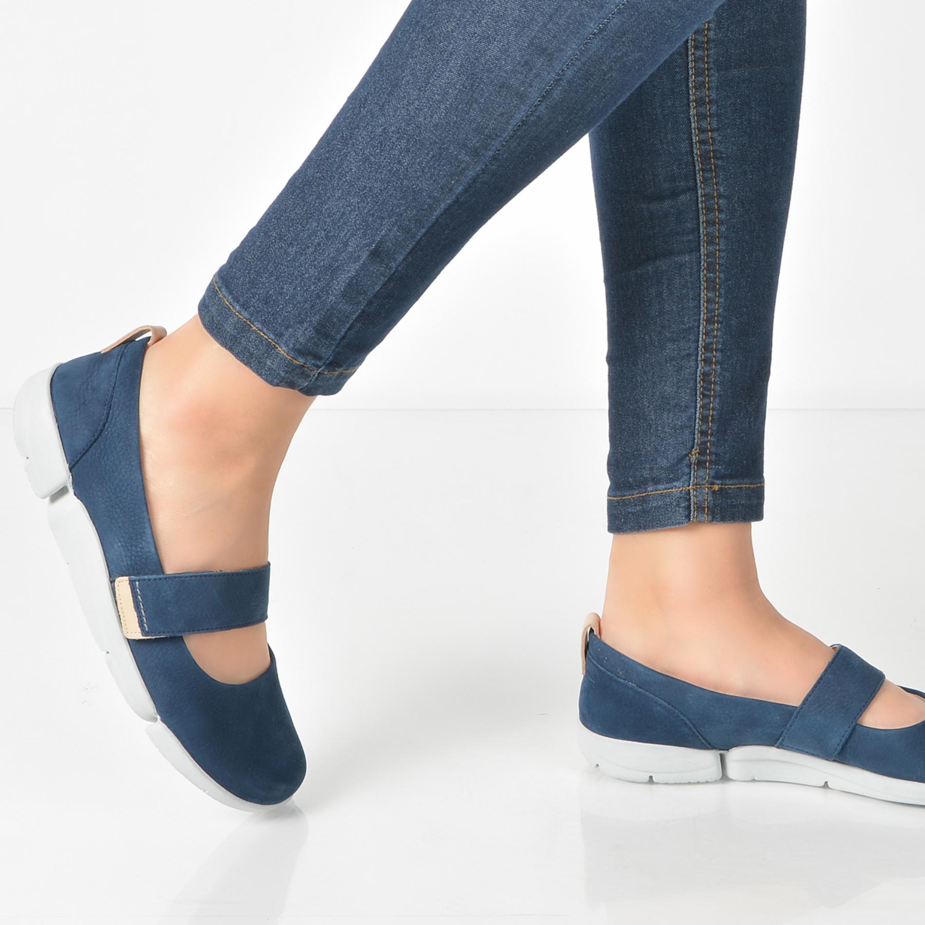Pantofi Clarks Bleumarin, 6131108, Din Nabuc