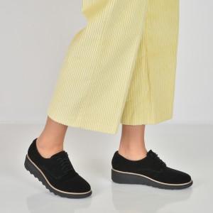 Pantofi CLARKS negri, 6136362, din nabuc