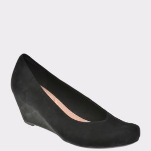 Pantofi CLARKS negri, 6128971, din piele intoarsa