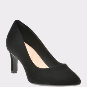 Pantofi CLARKS negri, 6136044, din piele intoarsa