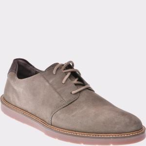Pantofi CLARKS gri, 6136437, din piele intoarsa