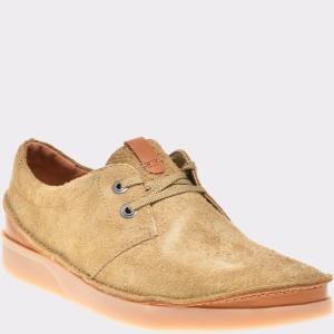 Pantofi CLARKS kaki, 6135598, din piele intoarsa