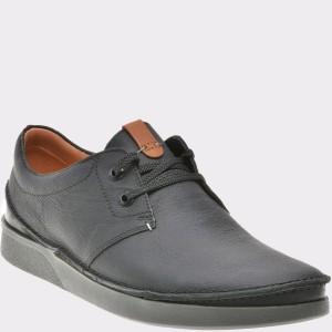 Pantofi CLARKS negri, 6135394, din piele naturala