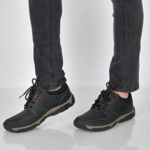 Pantofi CLARKS negri, 6138656, din piele naturala