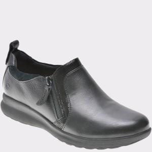 Pantofi CLARKS negri, 6137017, din piele naturala
