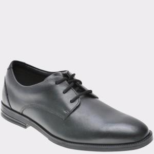 Pantofi Pentru Copii Clarks Negri, 6126836, Din Piele Naturala